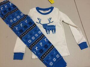 NWT Gymboree Christmas Boys Gymmies Reindeer Fair Isle Deer Pajama Set 8