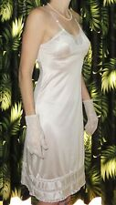 Vintage White JC Penney Adonna Slip 32 lace undergarment pinup retro rockabilly