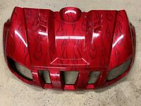 04-12 Yamaha Rhino 700 OEM SPECIAL EDITION FRONT FENDERS FENDER PLASTIC RED SE