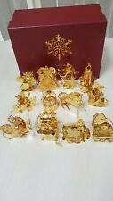 New listing The Danbury Mint 1994 Gold Christmas Ornament Collection of 12 Ornaments in Box