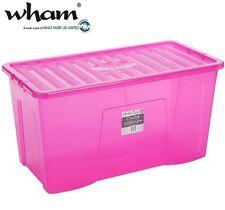 Wham® 12357 Aufbewahrungsbox +Deckel 110L PINK 79,5x39,5x40cm Spielzeugkiste Box