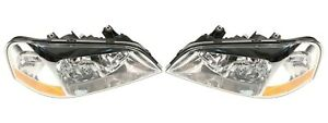NEW Left & Right Genuine Headlights Headlamps Pair Set For Acura CL Coupe  01-02