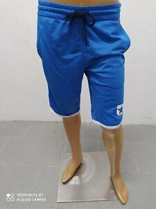 Bermuda Converse Uomo Taglia Size S Shorts Man Pantalon Homme Cotone Blu 8831
