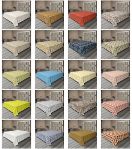 Ambesonne Abstract Layout Flat Sheet Top Sheet Decorative Bedding 6 Sizes