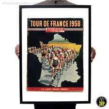 Large 1958 Tour de France Magazine Cover Art Vintage Cycling Velo Poster Print