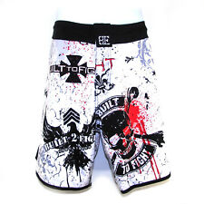 Biif Built to Fight Men's Fight Shorts Size 30 White Mma Ufc Boxing Training