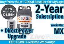MyLaps X2 MX (Motocross) Direct Power Transponder w/ 2-year Subscription -AMB