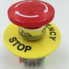 Red Mushroom Cap 1no 1nc Dpst Emergency Stop Push Button Switch Ac 660v 10a E St