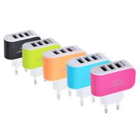 Multiprises USB 3 entrées 5 V 3,1A au Androïde, iPhone et iPad