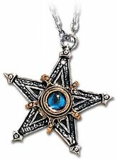 Alchemy Gothic Pewter Medieval Pentacle Pentagram Star Pendant Necklace P124