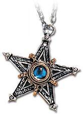 Alchemy Gothic Pewter Medieval Pentacle Pentagram Star Pendant Necklace P124