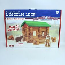 Lincoln Logs American Legends Davy Crockett Set 65 Pieces New Real Wood Limited