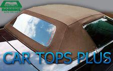 "94-96 C4 Corvette Convertible Top & Heated Glass ""Robbins"" Tan Stayfast Cloth"