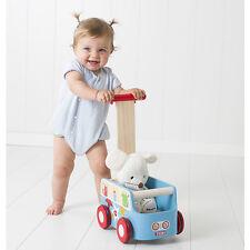Pousseur porteur pou bébé en bois Natural Van NEUF