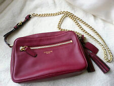 COACH red plum cross body/ shoulder bag(original retail price was £250)