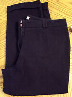 Chico's Capri Pants Black Stretch size 1.5 Medium Nice Comfortable