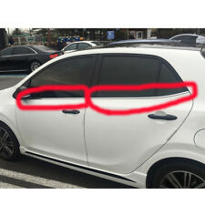 GENUINE 2017 + KIA Picanto Chrome Door Rubber Window Molding Weather Strips 4pcs