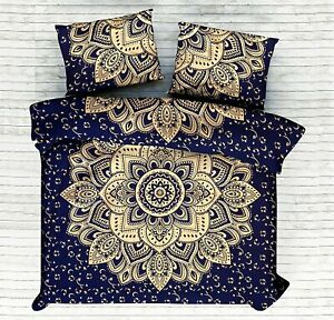 Indian Mandala Bedding Set Queen Size Duvet Cover Blanket With 2 Pillow Covers