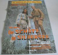 A1-Filmplakat - DER SCHATZ IN SILBERSEE - Pierre Brice, Lex Barker,KARL MAY