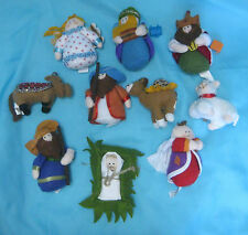 Gemmy Industries 12 Pc Nativity People Animals Jesus