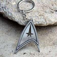 Movie Star Trek Duplex Logo Silver Keychain Pendant Car Keychains Jewelry Gifts