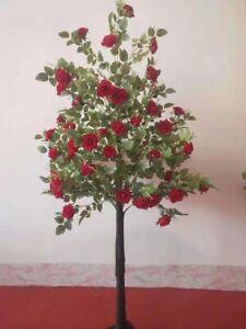 WeddingGeneral® Artificial Blossom Tree 120cm Wedding Event TREE- RED ROSES