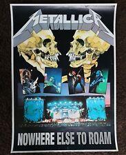 Vintage METALLICA Poster 1993 NOWHERE ELSE TO ROAM tour poster original  RaRe