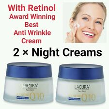 **Award winning** With RETINOL Anti-wrinkle Q10 50ml LACURA  2 × Night Cream