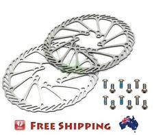 2 x 160mm Bike Disc Brake Rotor for Avid G3 + 12 Stainless Steel Blots fit