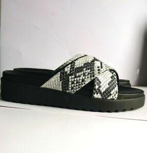 Women's Sandals By Buffalo Javia Snake Look Leather   size uk 4
