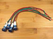 4 BBT 12 volt Waterproof Blue LED Low-Profile Indicator Lights