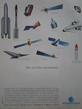 12/1992 PUB AEROSPATIALE ESPACE DEFENSE HERMES MSBS ARIANE HUYGENS GERMAN AD
