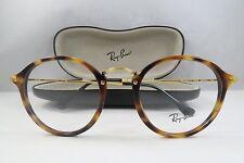 Ray-Ban RB 2447-V 5494 Round Havana on Gold New Authentic Eyeglasses 49mm w/Case