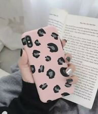 For iPhone XS Max Pink Leopard Print Soft Silicone Protect Shell Case Cover NEW