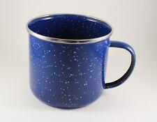 12659*Enamel Mug, Blue Peltre Cup With White Specks