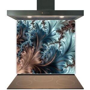 Kitchen Glass Splashback Toughened Tile Cooker Panel Any Size Wave Mottle