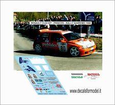 DECALS 1/43 RENAULT CLIO MAXI PRINCEN RALLY SANREMO 1998