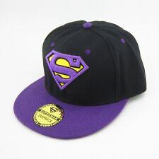 New Black Purple Adjustable Snapback Superman Flat Bill Hiphop baseball Hat cap