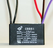 CEILING FAN CAPACITOR CBB61 4.8uf+6uf+6uf  5 WIRE