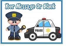 Personalizzati CAKE TOPPER commestibile glassa foglio A4 ND1 CARTOON Polizia Poliziotto Uomo