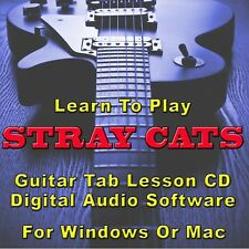 STRAY CATS Guitar Tab Lesson Tablature CD Software- 13 Songs