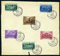 HUNGARY  STAMPS ON  SPECIAL CANCEL PAGE 1937