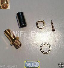 Rp-Sma Bulkhead male pin crimp for Rg-8X Lmr240 Rg8X cable Rf Connector Usa