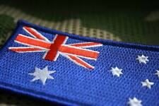 Australian Flag Patch Sew/Stitch On Badge Full Embroidered w/hook and loop L10cm