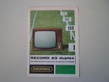 advertising Pubblicità 1967 TELEVISORE GRUNDIG RECORD 23 DUPLEX
