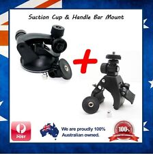 Suction Cup & Handlebar Mount for Contour, Liquid Image Ego, Sony Action Cam Ion