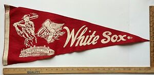 Vintage 1960's Chicago White Sox Pennant MLB Baseball Original RARE