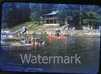 1951 kodachrome photo slide Rockbrook Camp Brevard NC #12 swimmers bathing cap
