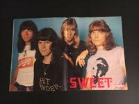THE SWEET Sweet Poster von 1975 ultra-rar aus Freizeit-Magazin 43x28cm einmalig!
