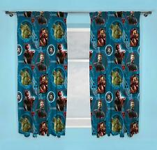 """Avengers Endgame 66"""" x 72"""" Pleated Curtains Matches Bedding"""